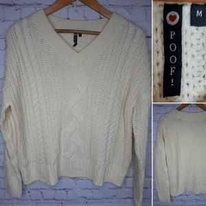 Poof sweater size M